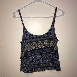 Blue crop top tank top
